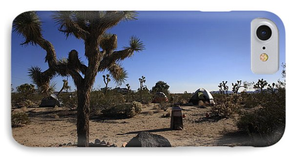 Camping In The Desert IPhone Case