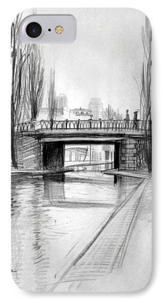 Canal Bridge In Paris IPhone Case