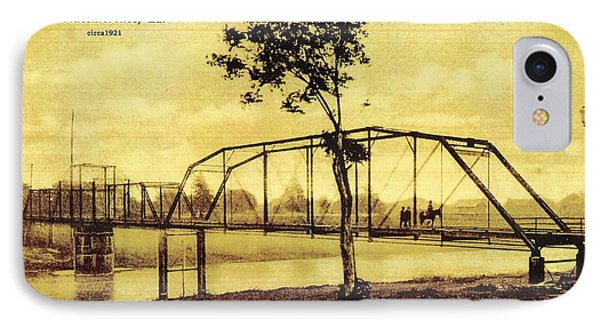 Cane River Lake And Bridge C1921 IPhone Case