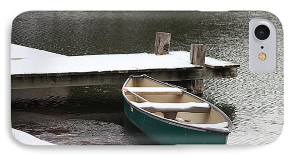 Canoe In Winter IPhone Case