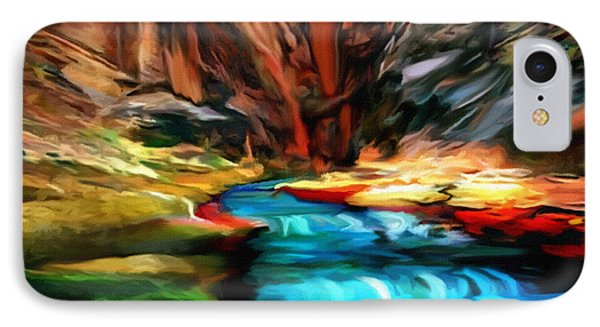Canyon Waterfall Impressions IPhone Case