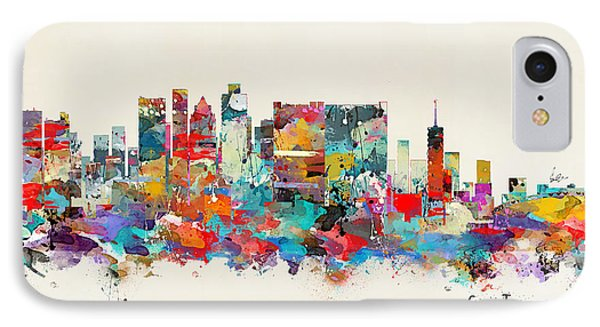 Africa iPhone 8 Case - Cape Town South Africa Skyline by Bri Buckley