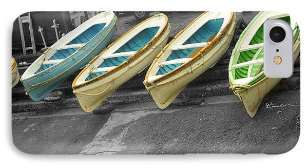 Capri Italy Aqua Green Boats IPhone Case