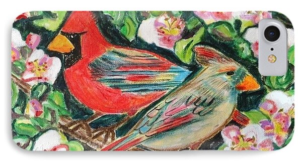Cardinals In An Apple Tree IPhone Case