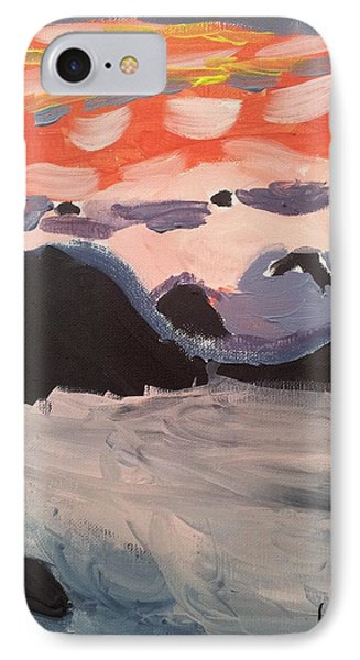 IPhone Case featuring the painting Caribbean Sunset  by Epic Luis Art