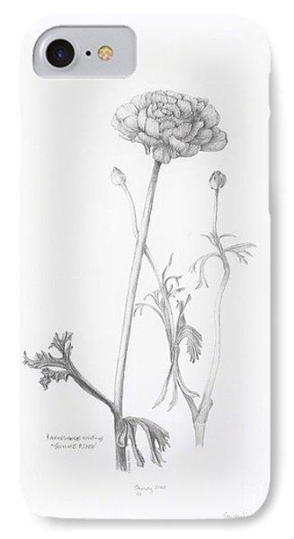 Carlsbad Ranunculus IPhone Case