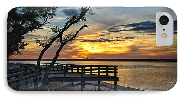 Carolina Beach River Sunset IPhone Case