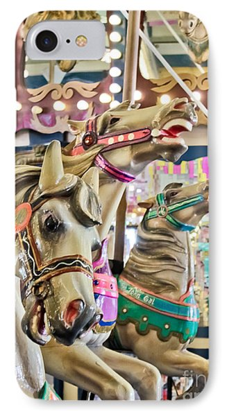 Carousel At Casino Pier IPhone Case