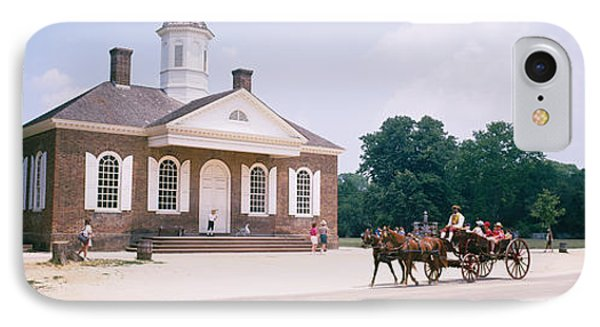 Carriage Moving On A Road, Colonial IPhone Case