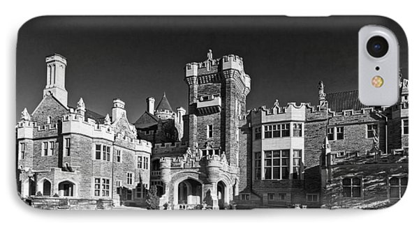 Casa Loma In Toronto In Black And White IPhone Case