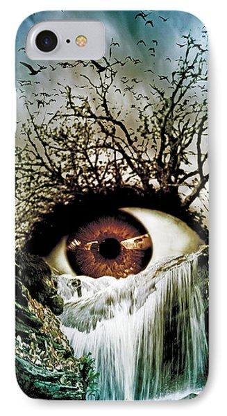Cascade Crying Eye IPhone Case