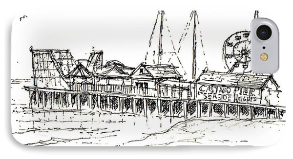 Casino Pier In Seaside Heights Nj IPhone Case