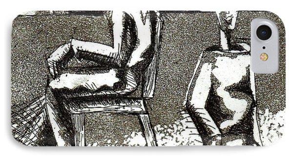 Cat Under Chair IPhone Case