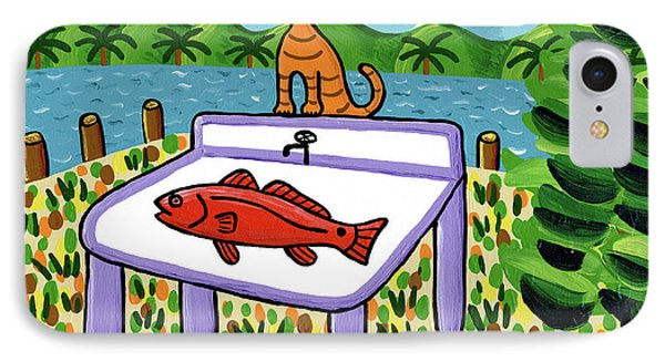 Cat's Fish - Cedar Key IPhone Case