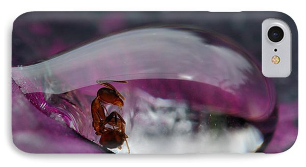 Caught In A Droplet IPhone Case