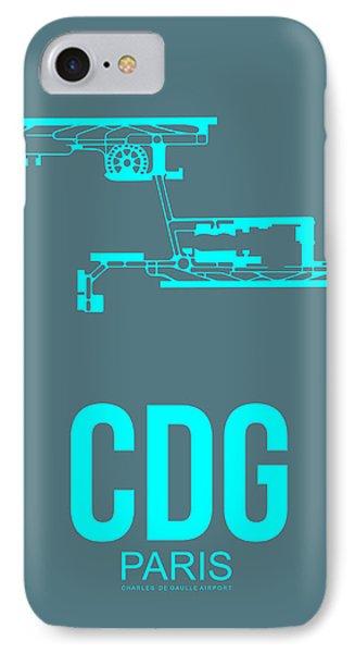 Cdg Paris Airport Poster 1 IPhone Case