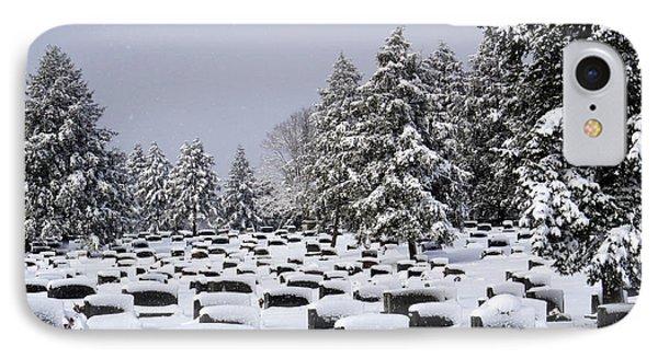 Cemetary Snow IPhone Case