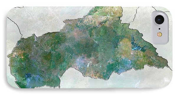 Republic Of South Africa iPhone 8 Case - Central African Republic by Planetobserver/science Photo Library
