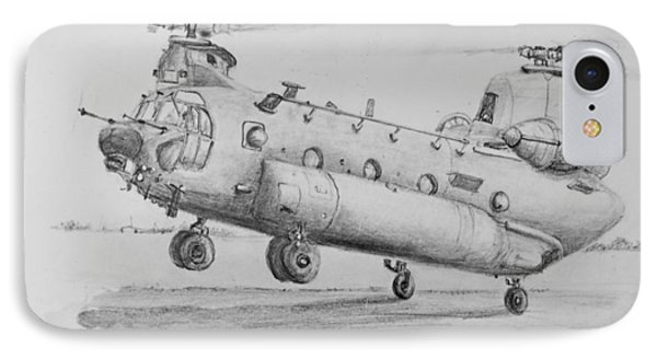 Ch 47 Chinook Helicopter IPhone Case