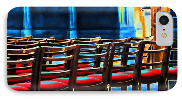 Chairs In Church IPhone Case