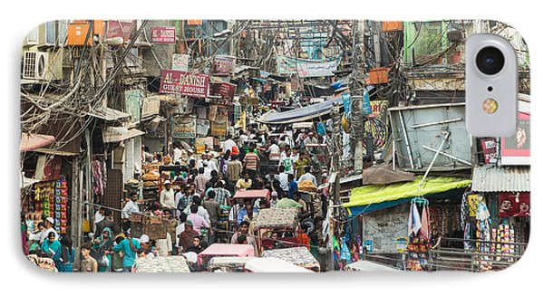 Chaotic Streets Of New Delhi In India IPhone Case
