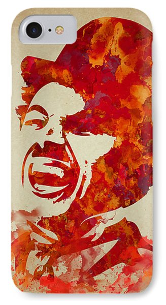 Charlie Chaplin Watercolor Painting IPhone Case
