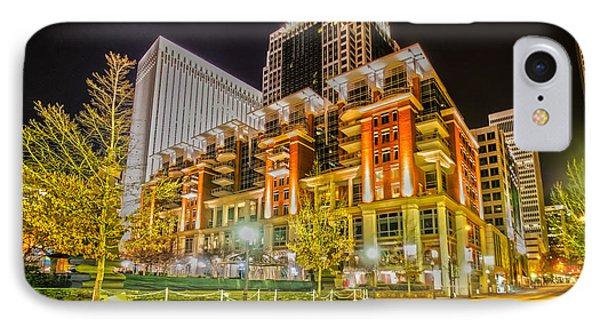 Charlotte City Skyline Night Scene IPhone Case