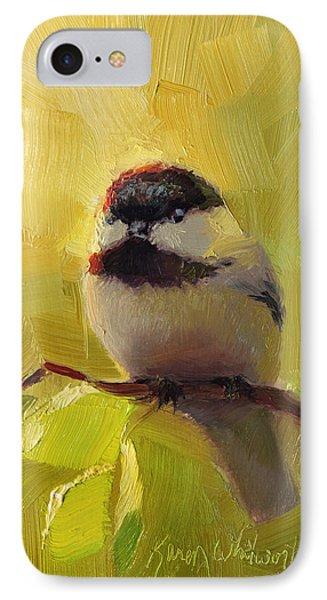 Chatty Chickadee - Cheeky Bird IPhone Case