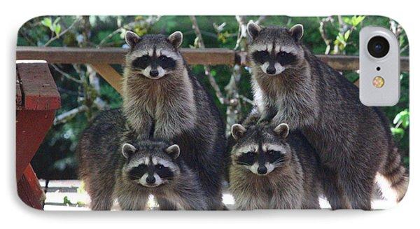 Cheerleading Raccoons IPhone Case