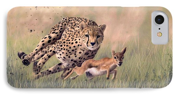 Cheetah And Gazelle Painting IPhone Case