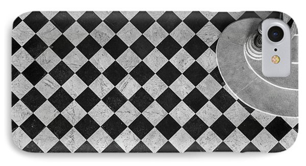 French iPhone 8 Case - Chessboard Staircase by Jean-louis Viretti