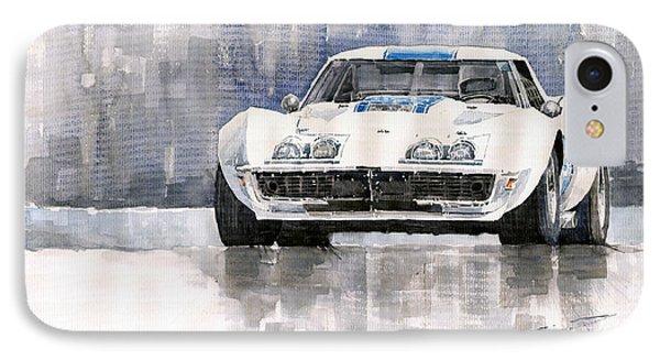 Car iPhone 8 Case - Chevrolet Corvette C3 by Yuriy Shevchuk