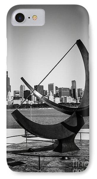 Chicago Adler Planetarium Sundial In Black And White IPhone Case