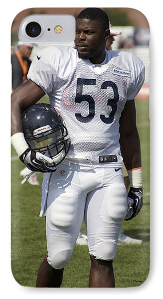 Chicago Bears Lb Jerry Franklin Training Camp 2014 01 IPhone Case