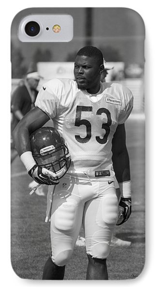 Chicago Bears Lb Jerry Franklin Training Camp 2014 Bw IPhone Case