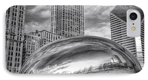 Chicago Bean Cloud Gate Hdr Picture IPhone Case