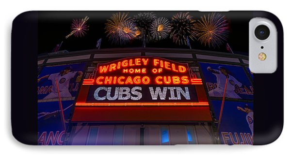 Chicago Cubs Win Fireworks Night IPhone Case
