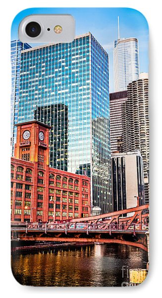 Chicago Downtown At Lasalle Street Bridge IPhone Case