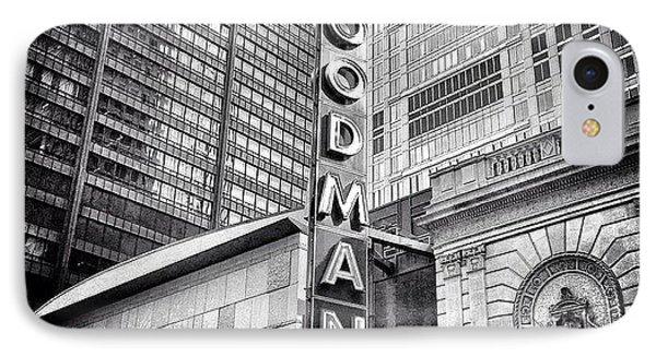 Chicago Goodman Theatre Sign Photo IPhone Case