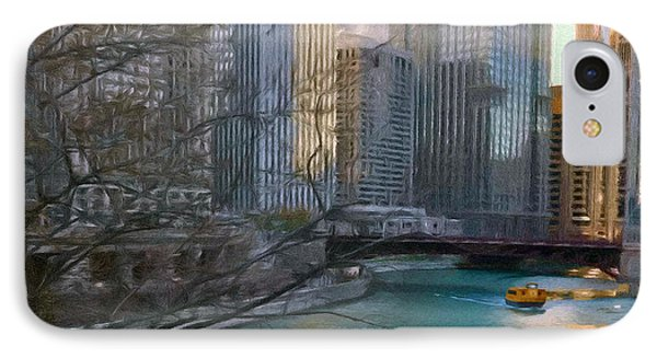 Chicago River Sunset IPhone Case