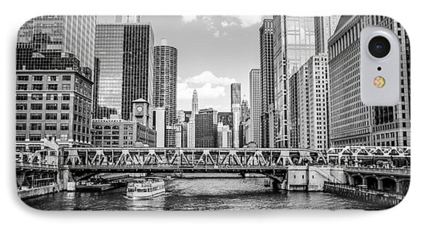 Chicago Wells Street Bridge Black And White Picture IPhone Case