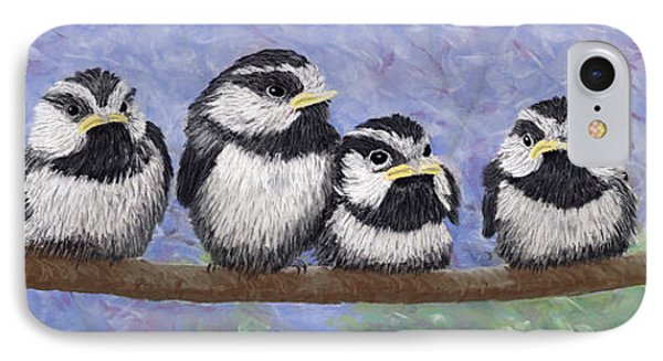 Chickadee Chicks IPhone Case