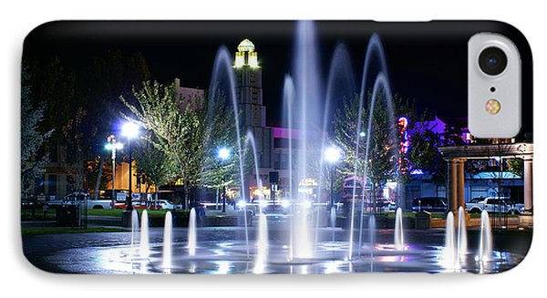 Chico City Plaza At Night IPhone Case