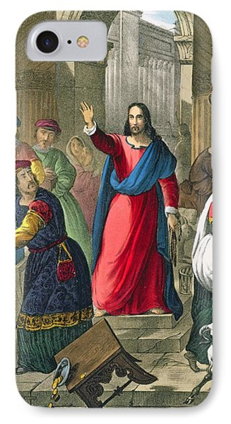 Christ Cleanses The Temple IPhone Case
