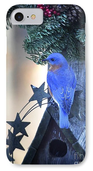 Christmas Bluebird IPhone Case