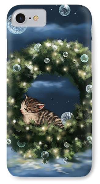 christmas lights iphone 8 case christmas dream by veronica minozzi