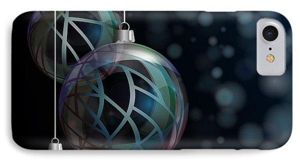 Christmas Elegant Glass Baubles IPhone Case