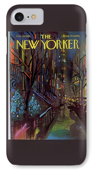 Christmas In New York IPhone Case