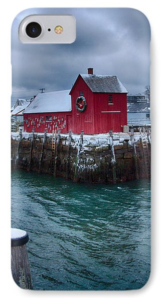 Christmas In Rockport Massachusetts IPhone Case