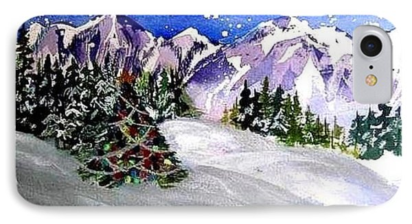 Christmas In The Mountains IPhone Case